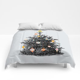 Decorated christmas tree Comforters