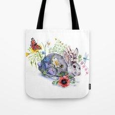 Spring Jackalope Tote Bag