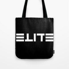 ELITE - Ambigram series (Black) Tote Bag