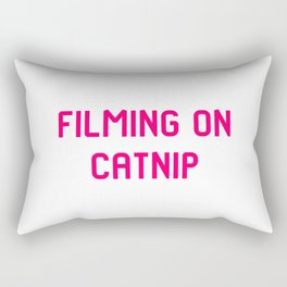 Filming on Catnip Pet Stunt Coordinator Quote Rectangular Pillow