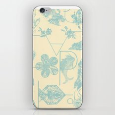 Letters in blue iPhone & iPod Skin