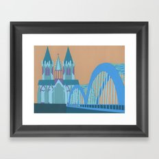 Hohenzollern Bridge Framed Art Print