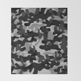 Camouflage (Gray) Throw Blanket