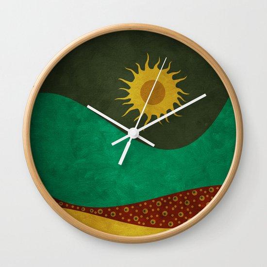 color under the sun (III) Wall Clock