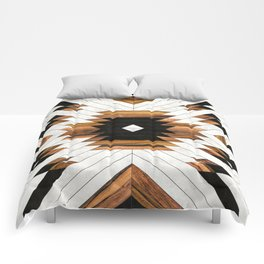Urban Tribal Pattern No.5 - Aztec - Concrete and Wood Comforters