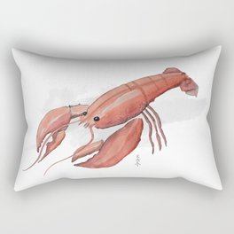 Lobster in Watercolor Rectangular Pillow