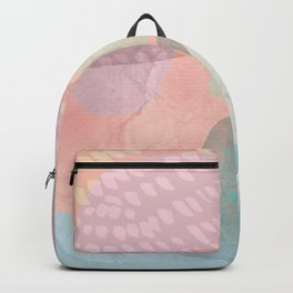 Shapes and Layers no.16 - Watercolor and pastel abstract painting Backpack