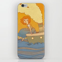 She landed on a passing by boat that took her to a little island iPhone Skin