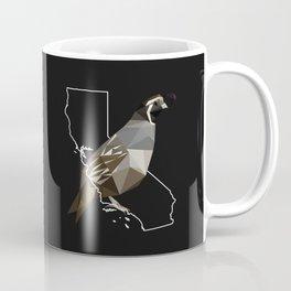 California – California Valley Quail (Black) Coffee Mug
