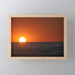 Smooth Sea Sunset Framed Mini Art Print