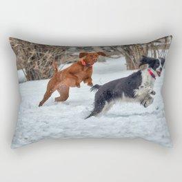 Jump And Run Rectangular Pillow