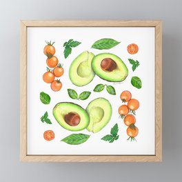 Avocados and Tomatoes Framed Mini Art Print