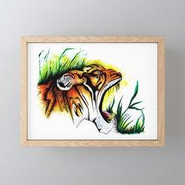 Tiger In The Wild Framed Mini Art Print