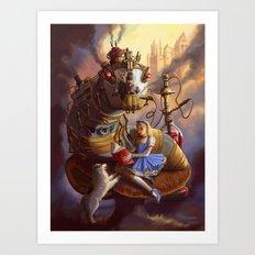 Sandra's Steampunk Alice in Wonderland Art Print