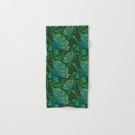 Peacocks in Emerald Forest Hand & Bath Towel