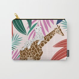 Giraffe and leopard in the jungle Carry-All Pouch