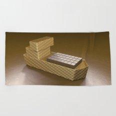Chocolate Ship - 3D Art Beach Towel