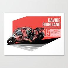 Davide Giugliano  - 2015 Misano Canvas Print