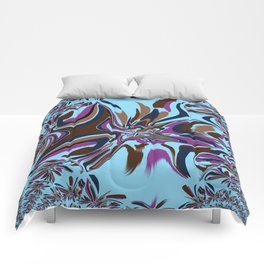 Fractual Trace In Blue Comforters