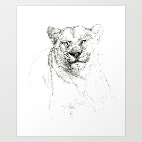 Lioness emotions SK046 Art Print