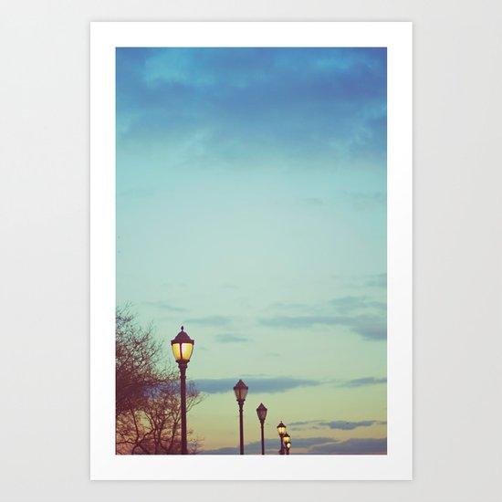 An afternoon walk Art Print