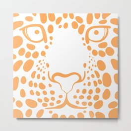 TIGER--FACE Metal Print