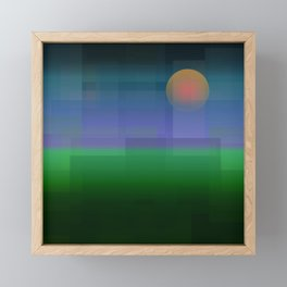 Prarie Sunset Framed Mini Art Print
