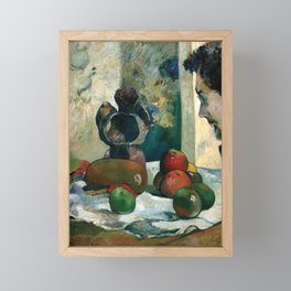 Still Life with Profile of Laval by Paul Gauguin Framed Mini Art Print