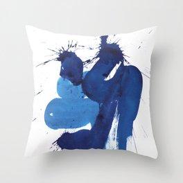 """seria """"BLUE""""  title № 2 Throw Pillow"""