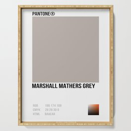 MARSHALL MATHER GREY Serving Tray