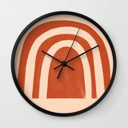 autumn rainbow Wall Clock
