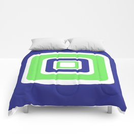 Rhapsody in BlueGreen Comforters