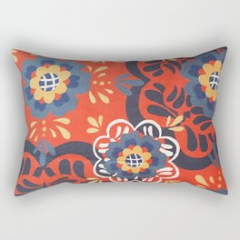 Ankara Afrikan Print Yoga Pants 3 Rectangular Pillow