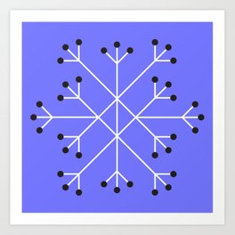 Mod Snowflake Purple Art Print