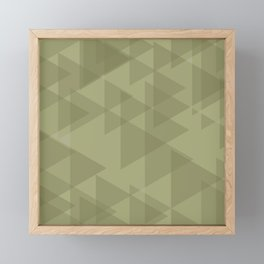 Sand triangles in the intersection and overlay. Framed Mini Art Print