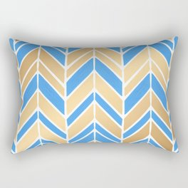 Intermittent Herringbone – Blue Gold Palette Rectangular Pillow