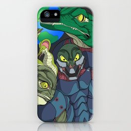 3 Reptilian Earth iPhone Case
