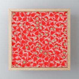 Strawberry Summer Framed Mini Art Print