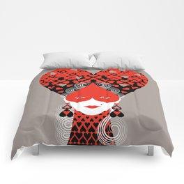 The queen of hearts Comforters