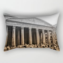 Agrippa built the Pantheon Rectangular Pillow