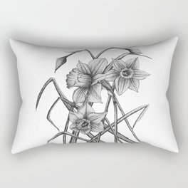 Daffodil Sketch Rectangular Pillow