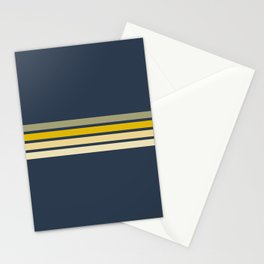 Racing Retro Stripes Stationery Cards