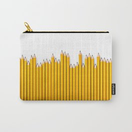 Pencil row / 3D render of very long pencils Carry-All Pouch
