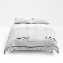 Puppy Traffic, French Bulldogs, Frenchie Art, French Bulldog Gifts Comforters