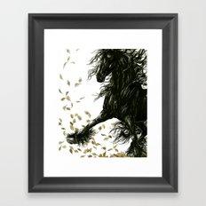 Autumn Friesian Framed Art Print