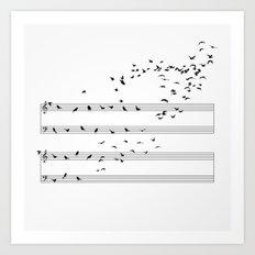 Natural Musical Notes Art Print