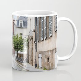 Cobblestoned street in historic centre of Rennes, France Coffee Mug