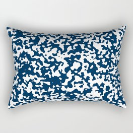 Small Spots - White and Oxford Blue Rectangular Pillow