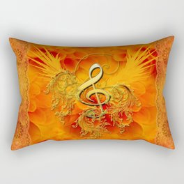 Clef with flowers Rectangular Pillow