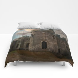 Clifden Castle at the sunset Comforters
